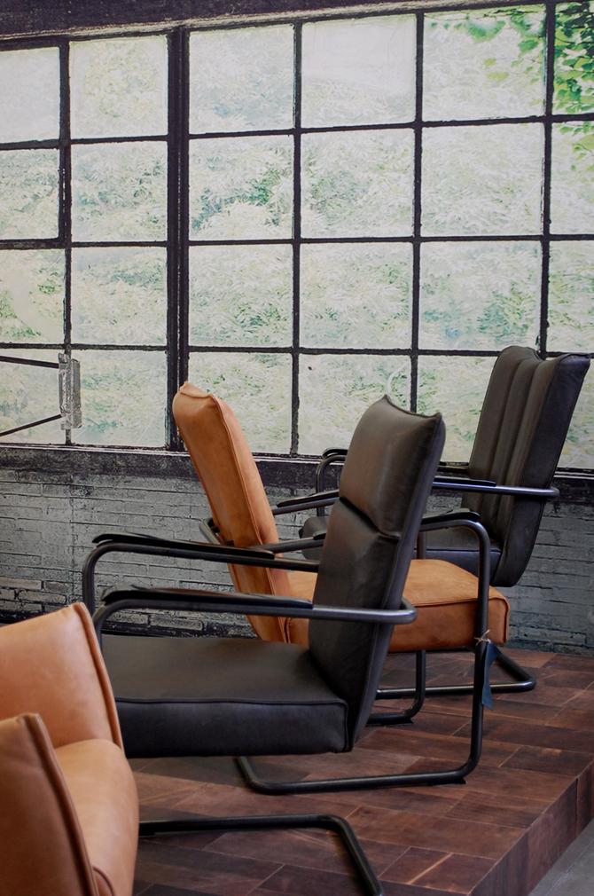 Leren stoelen Woonbeurs 2012