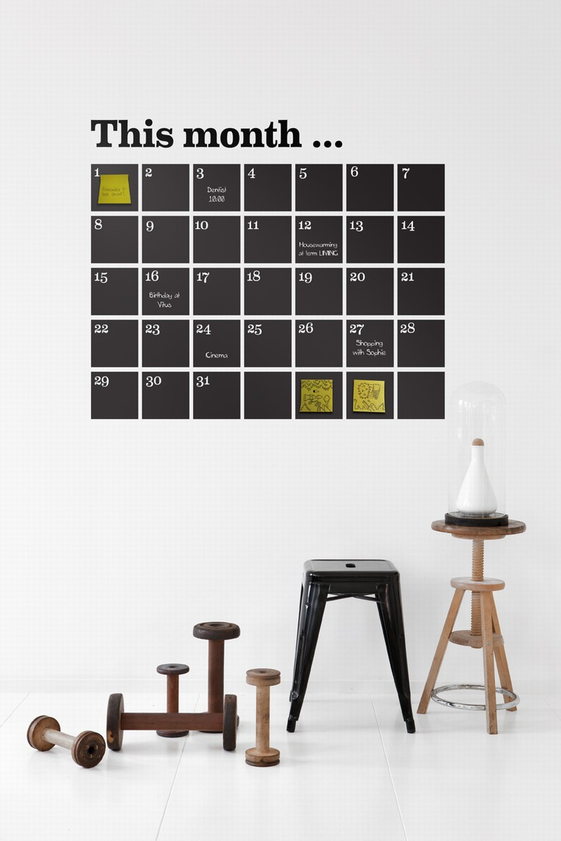 opgeruimd muur kalender