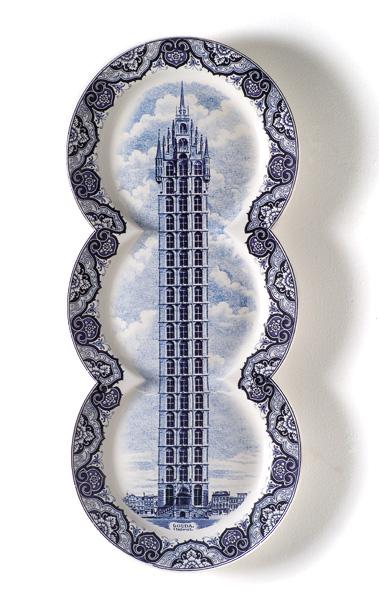 Maxime Ansiau delftsblauwe bord staand klein