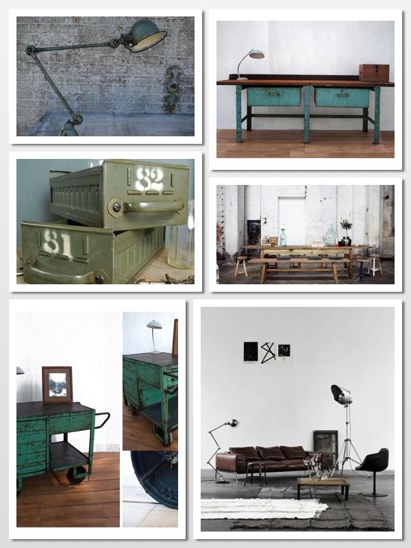 Fabriekslampen industrie collage