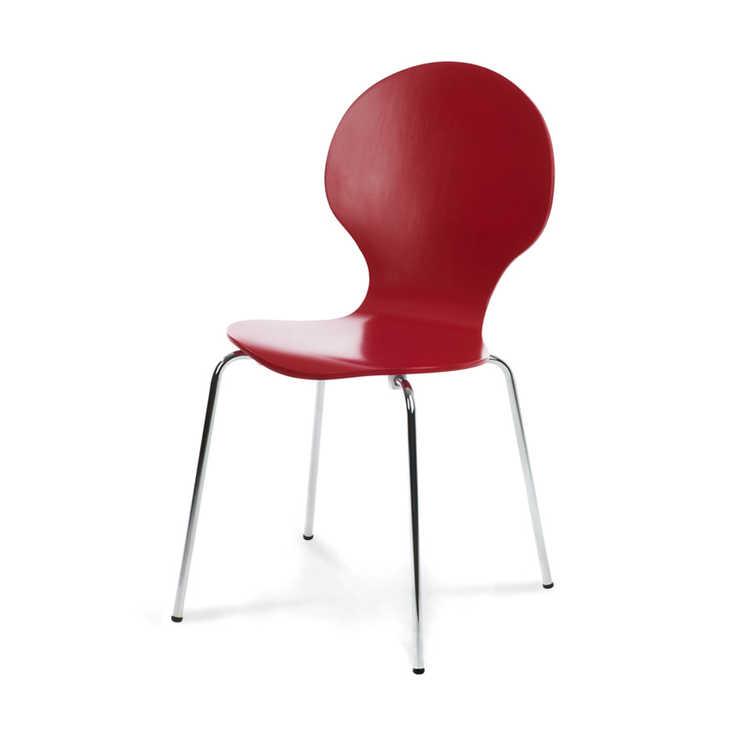 Colour blocking rode stoel
