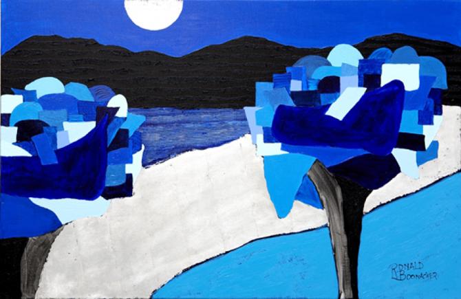 Kleurige Kunst blauw