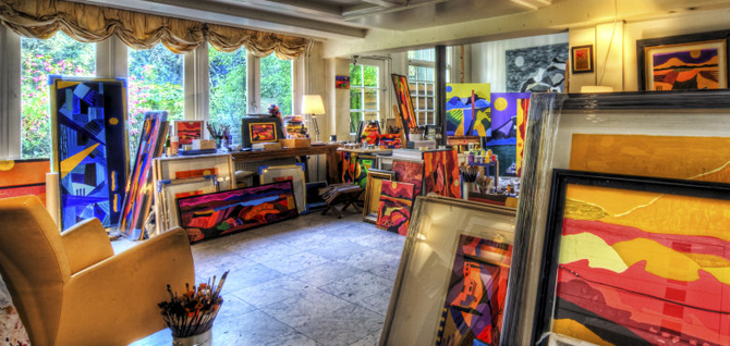 Kleurige Kunst showroom