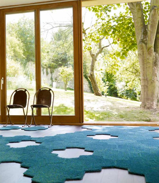 tapijttegels Island van Esprit Blauw