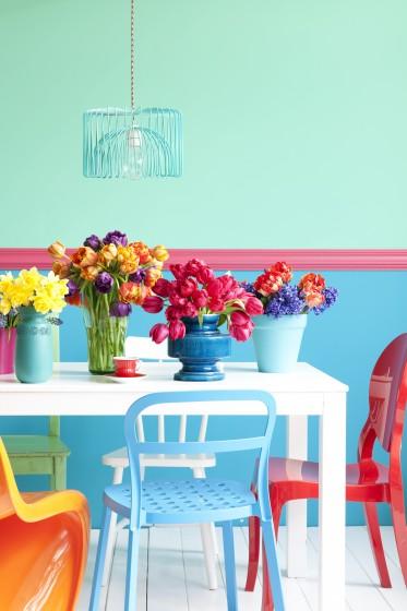 Interieurstyling felle kleuren