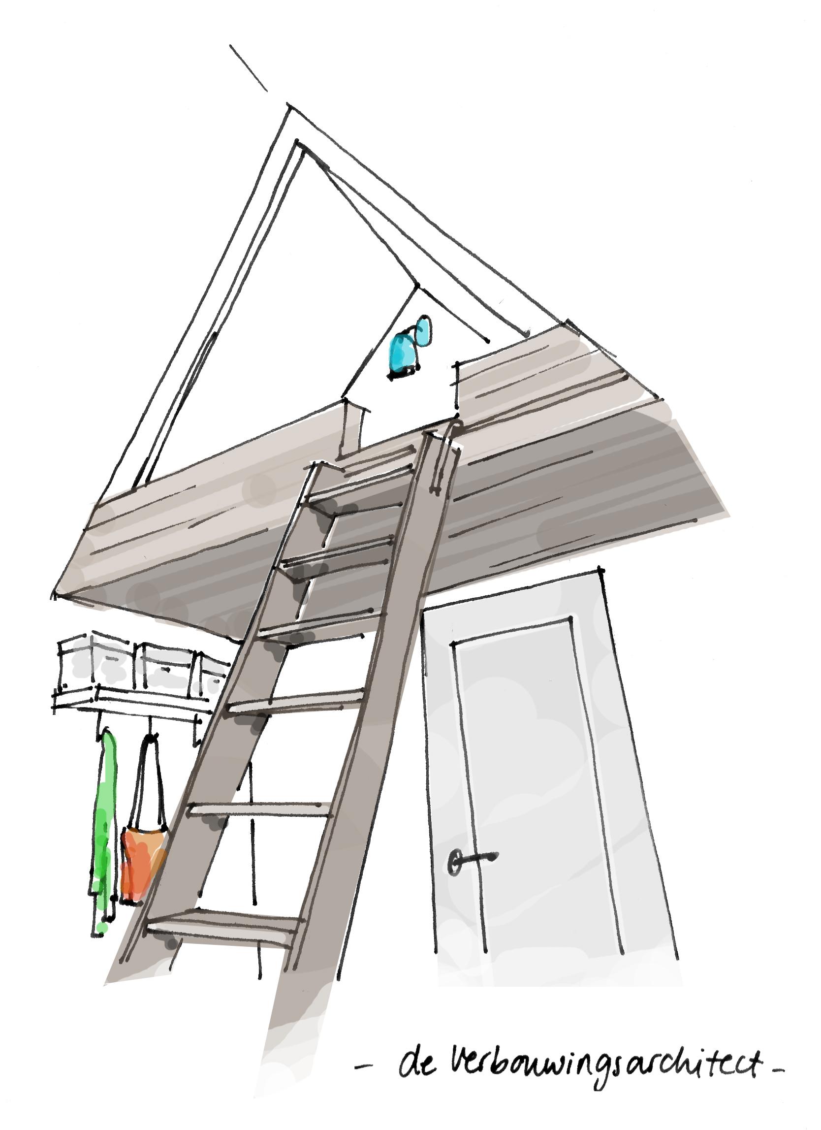 3 x slim slapen op zolder inspiraties - Maak een mezzanine op de zolder ...