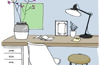 5 tips voor een lekkere thuis-werkplek