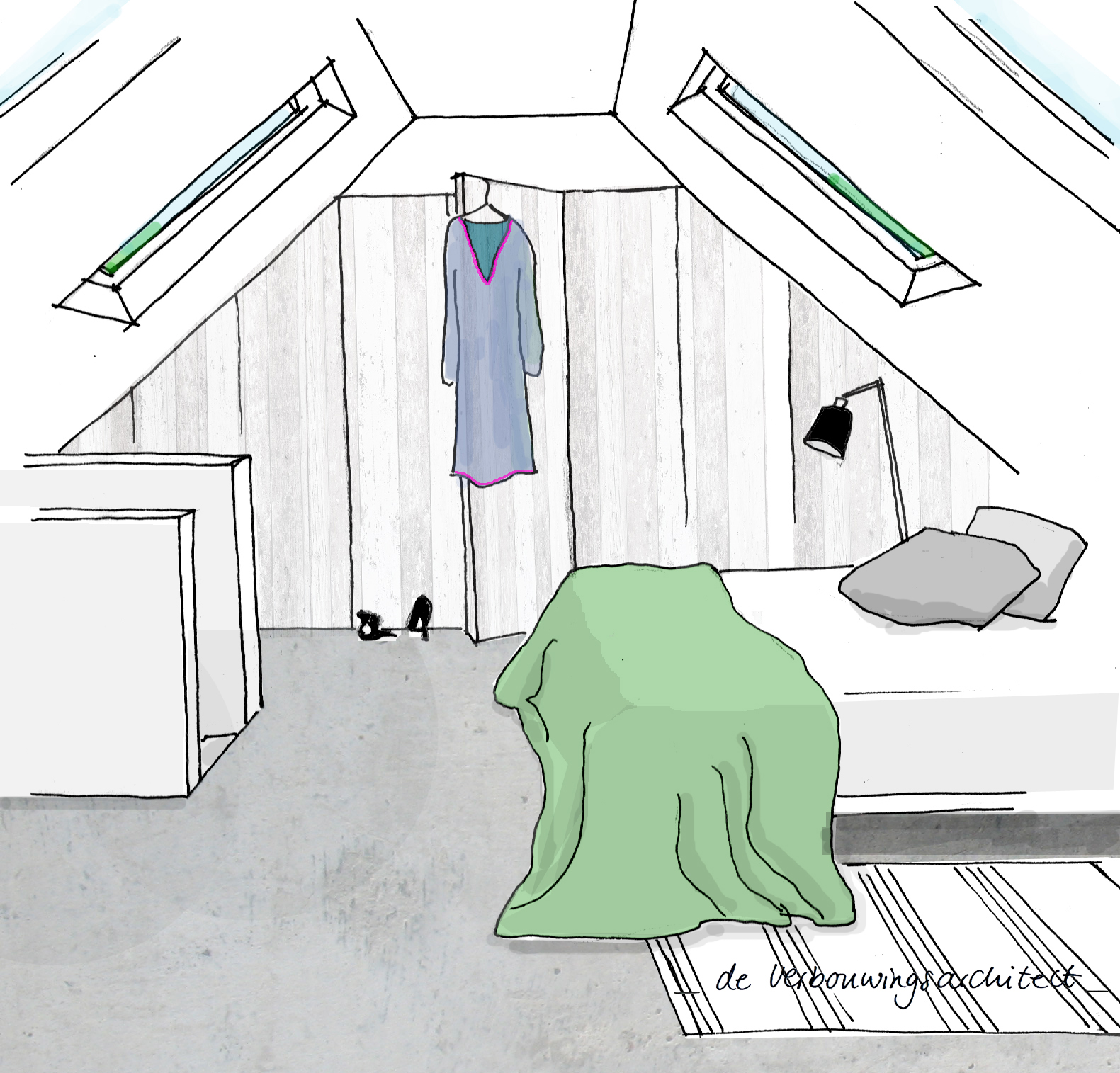 In 5 stappen van rommelzolder naar slaapverdieping inspiraties - Trap toegang tot zolder ...