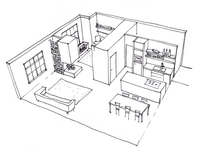 Kok wonen en lifestyle for Kamer 3d tekenen