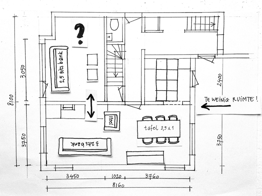 In 5 stappen de beste indeling voor je huis inspiraties - Voorbeeld van de kamer ...