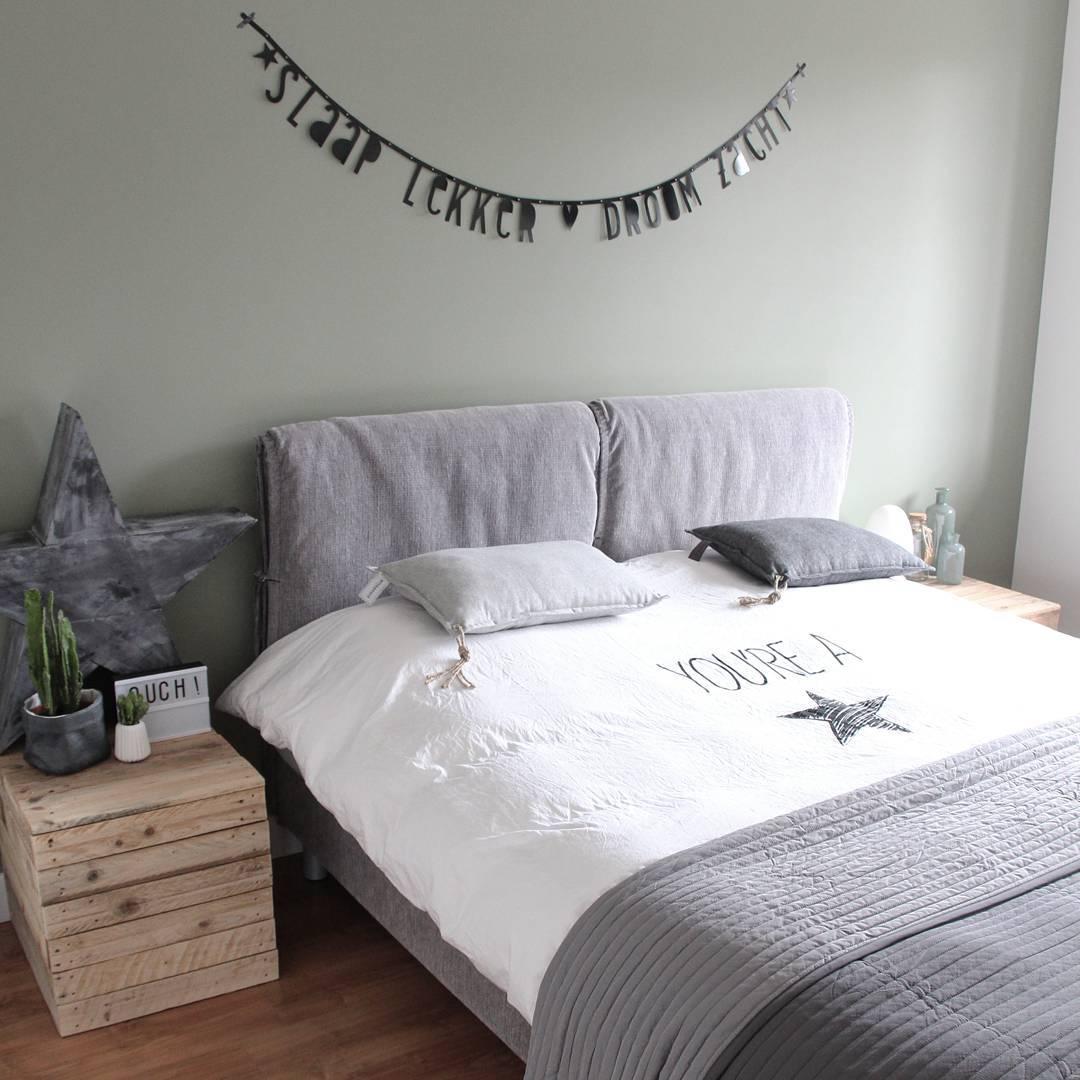 Slaapkamer idee decoratie - Grijze slaapkamer ...