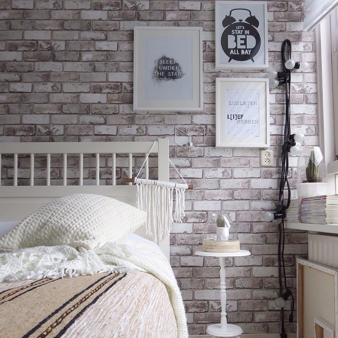 behang steenmotief slaapkamer ~ lactate for ., Deco ideeën