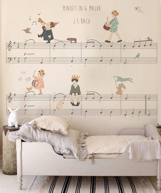 Dit behang doet me denken aan de boeken van Annie M. G. Schmidt. Heel ...