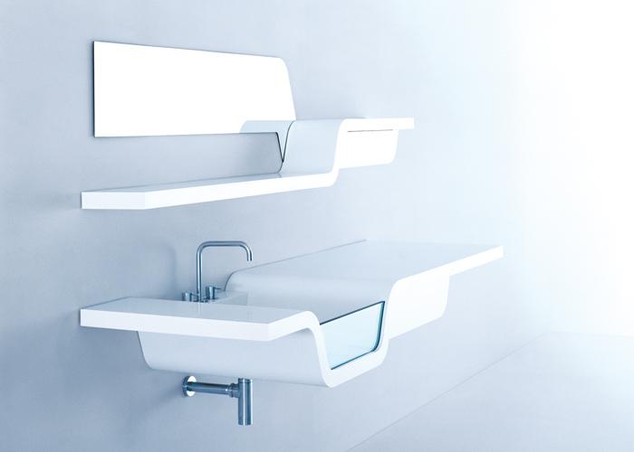 Badkamer Glaswand : Badkamermeubel