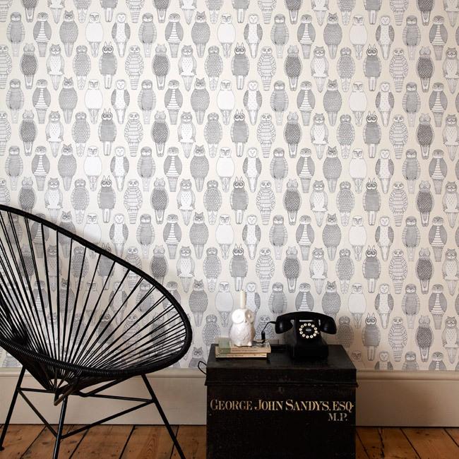 Behang met uilen - Inspiraties - ShowHome.nl