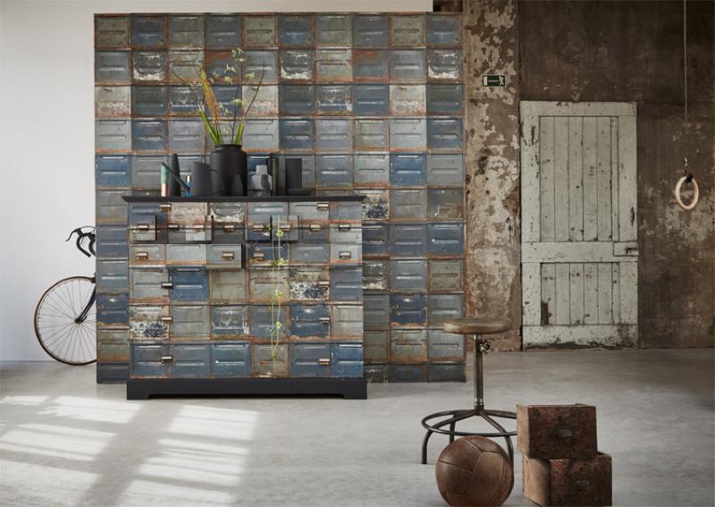 Industrieel Behang Slaapkamer : Behang met een industriele look inspiraties showhome.nl