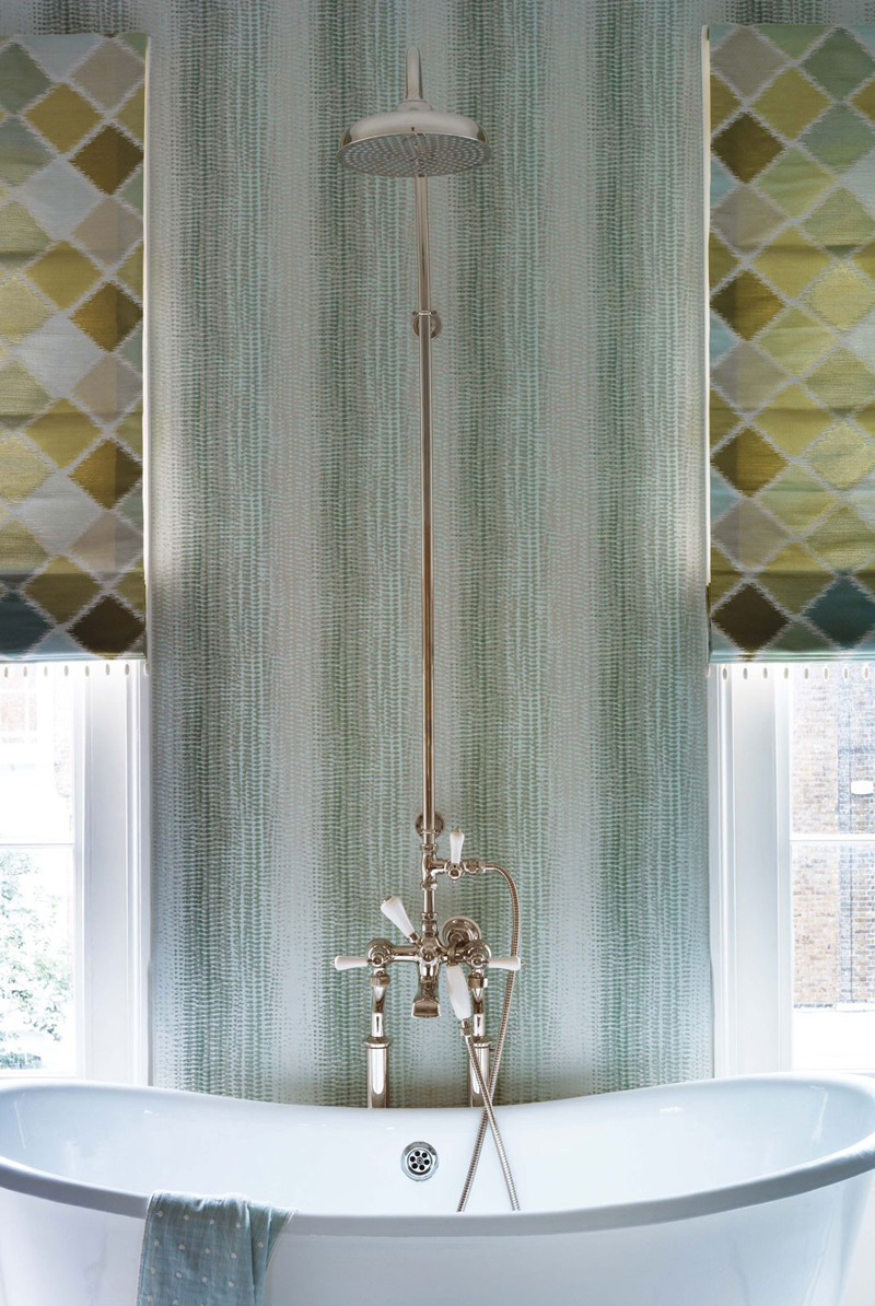 Behang op de badkamer inspiraties - Badkamer meubilair merk italiaans ...