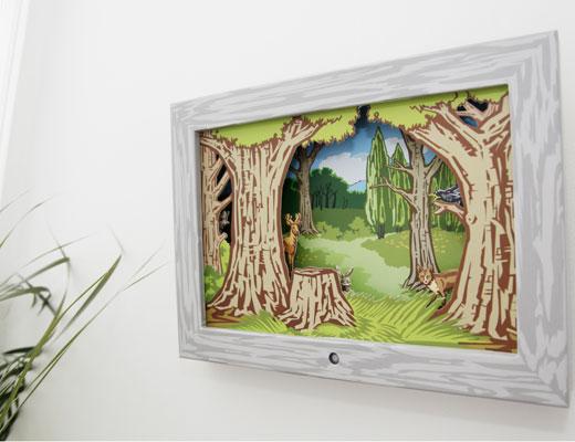 Bewegend schilderij voor de kinderkamer inspiraties - Schilderij slaapkamer kind ...