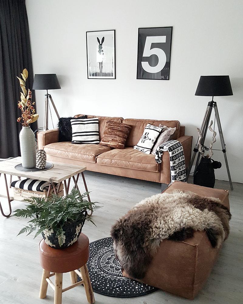 Binnenkijken bij yvonne inspiraties - Deco salon zwart wit ...