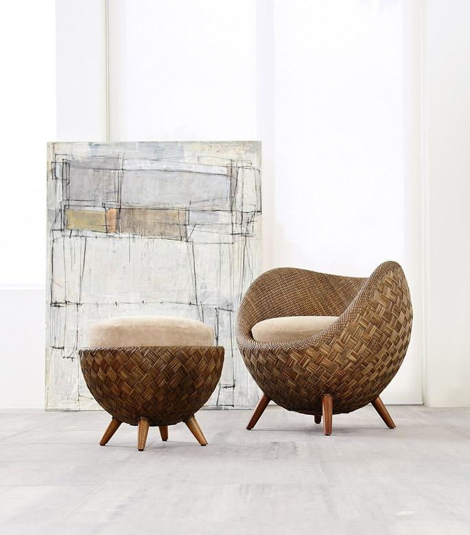 Comfortabele stoel van rattan   Inspiraties   ShowHome nl