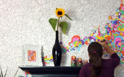 Creatief behang origineel behang inspiraties - Behang voor volwassen slaapkamer ...