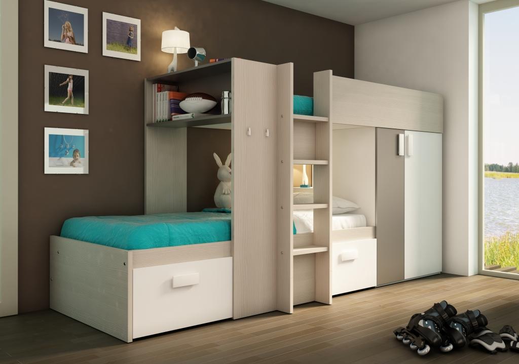 De ideale oplossing voor een kleine slaapkamer? Een bed en bureau ...