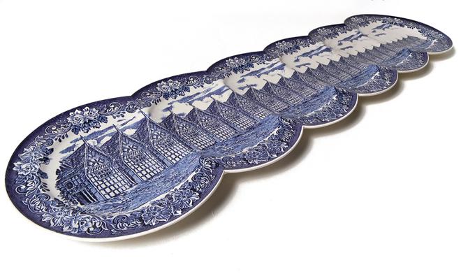 Maxime Ansiau delftsblauwe bord groot