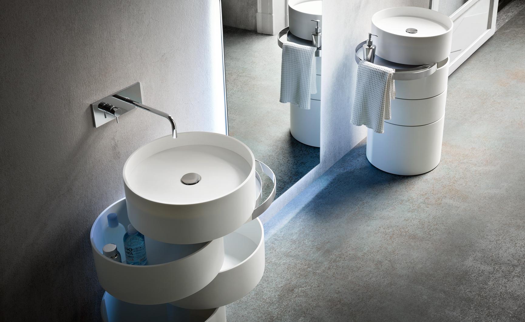Design badkamermeubel met ingebouwde wastafel inspiraties - Moderne wastafel ...