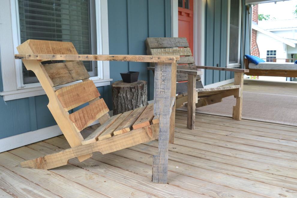 Houten Balkon Meubels : Houten deckchair