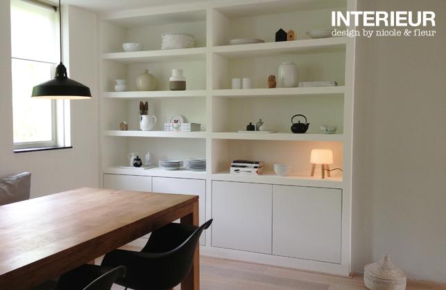 een inbouwkast op maat voor de eetkamer interieurstylist. Black Bedroom Furniture Sets. Home Design Ideas