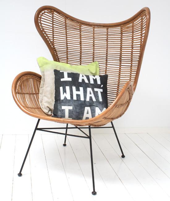 Egg chair van rotan inspiraties for Stoel woonkamer