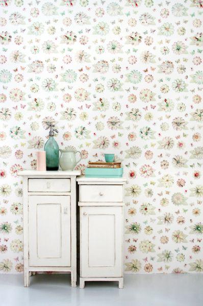 Dit behang is van Studio Ditte , een prachtige combinatie van pastels ...