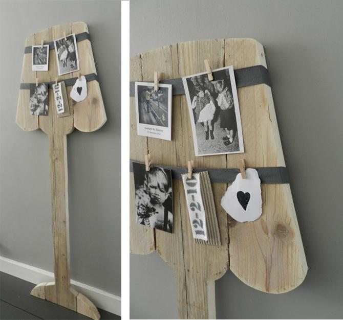 Fotolamp van steigerhout inspiraties for Zelf muurdecoratie maken