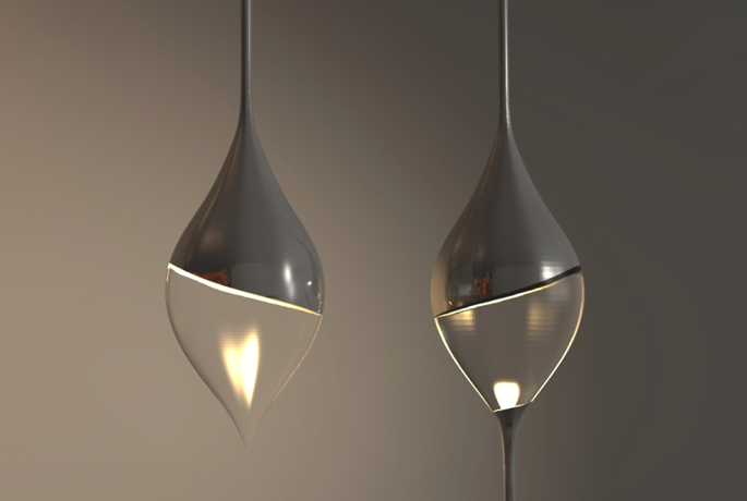 Glazen druppelvormige hanglamp - Inspiraties - ShowHome.nl