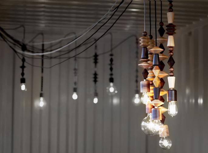 Cement Verf Badkamer ~ Hanglamp van houten kralen  Inspiraties  ShowHome nl