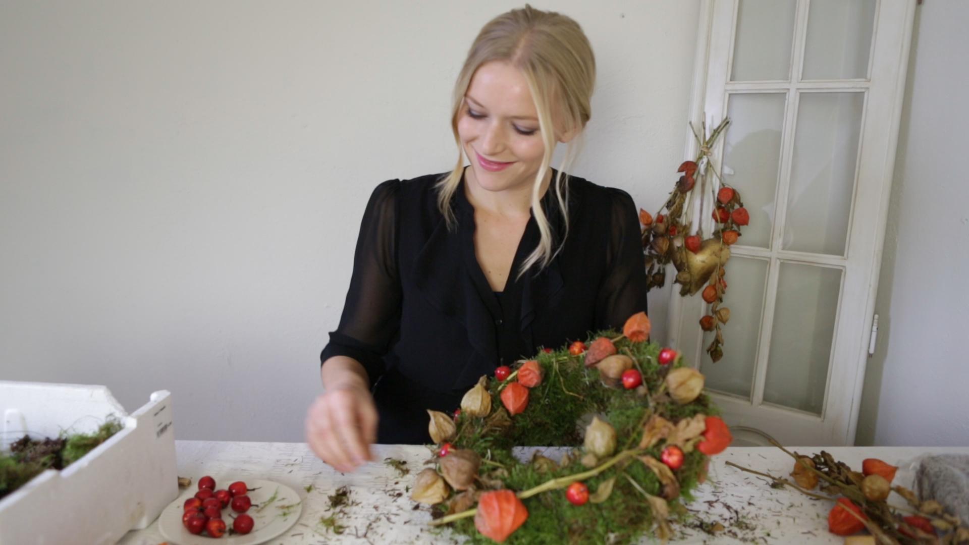 Zelf een herfstkrans maken inspiraties - Coulissan deur je dressing bladeren ...