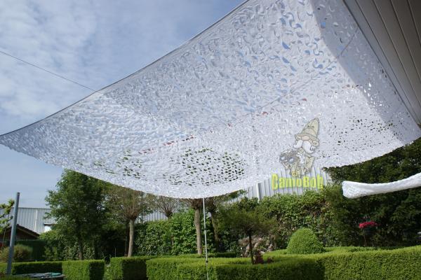 Hoe maak je een schaduwplek in je tuin inspiraties - Terras camouflagenetten ...