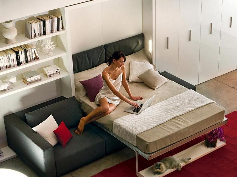 Tips Voor Kleine Slaapkamer: Kleine woonkamer naast slaapkamer ...