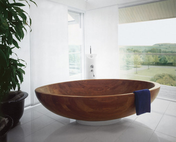 Bad op houten verdiepingsvloer