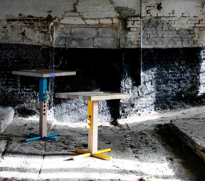 In hoogte verstelbare houten tafel inspiraties for Tafel hoogte
