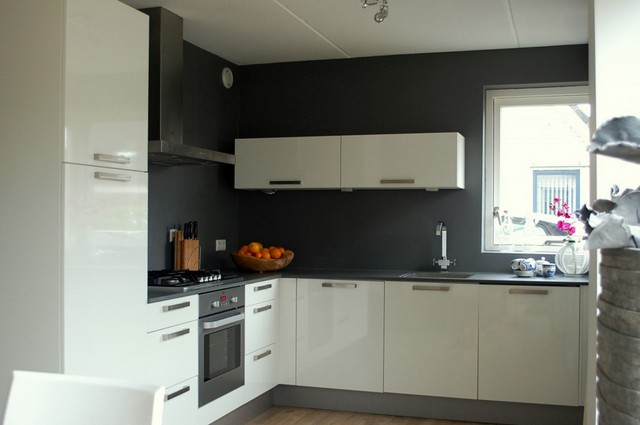 Coating muur keuken betonlook keuken muur inspiratie - Keuken en woonkamer in dezelfde kamer ...