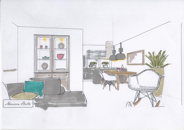 Interieurontwerp nieuwbouw woning zuidbroek interieurstylist for Interieurontwerp