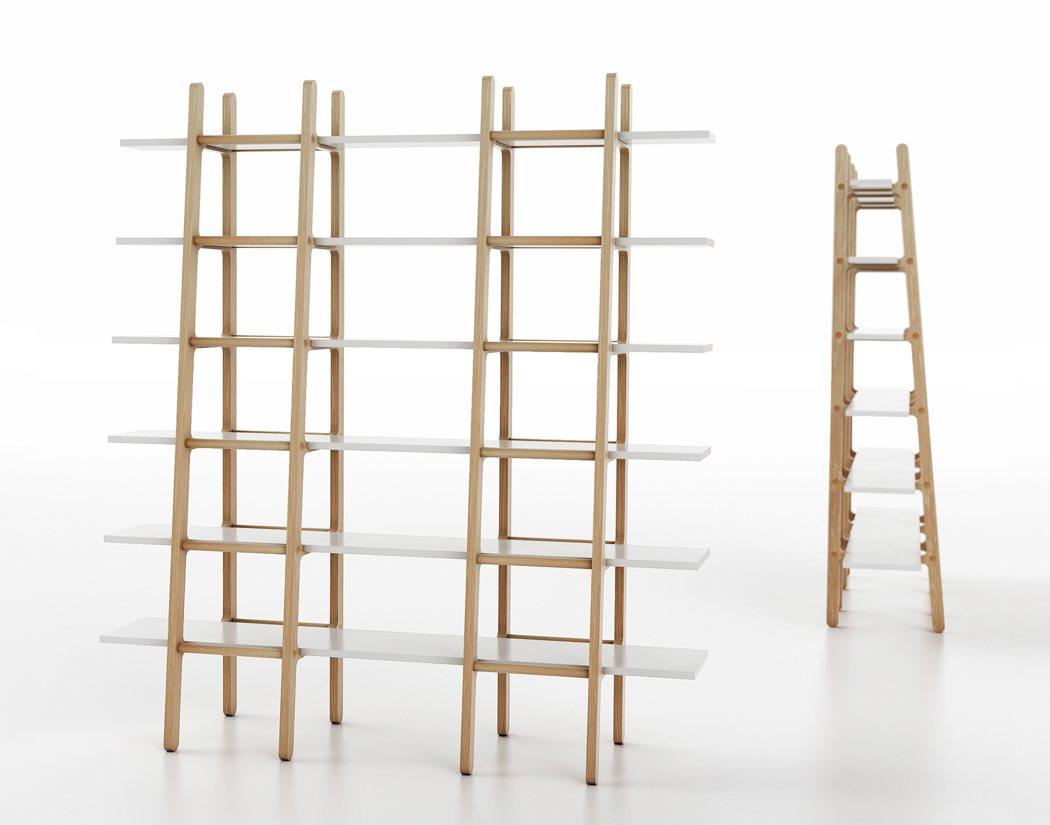 boekenkast van ladders