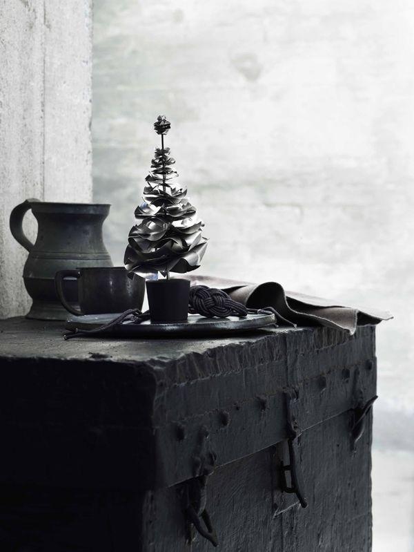 Kersttafels in het zwart/wit
