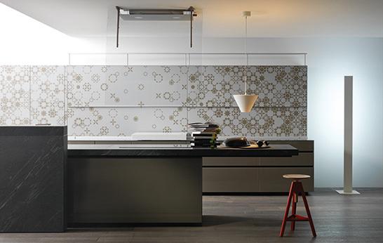 Keukenkasten Met Glas: Kooktafel met vleugels waarin inductie en ...