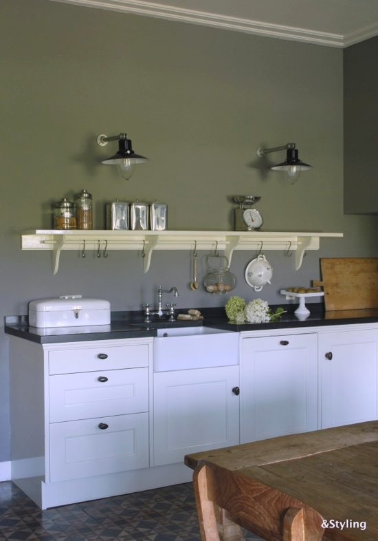 Kleuradvies voor de woonkamer en keuken interieurstylist - Oude keuken decoratie ...