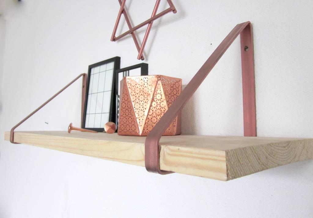 Koperen plankdragers inspiraties - Plank wandmeubel ...
