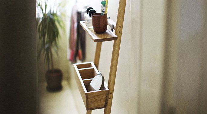 Decoratie ladder blokker uniek ladder badkamer cheap for Decoratie ladder blokker