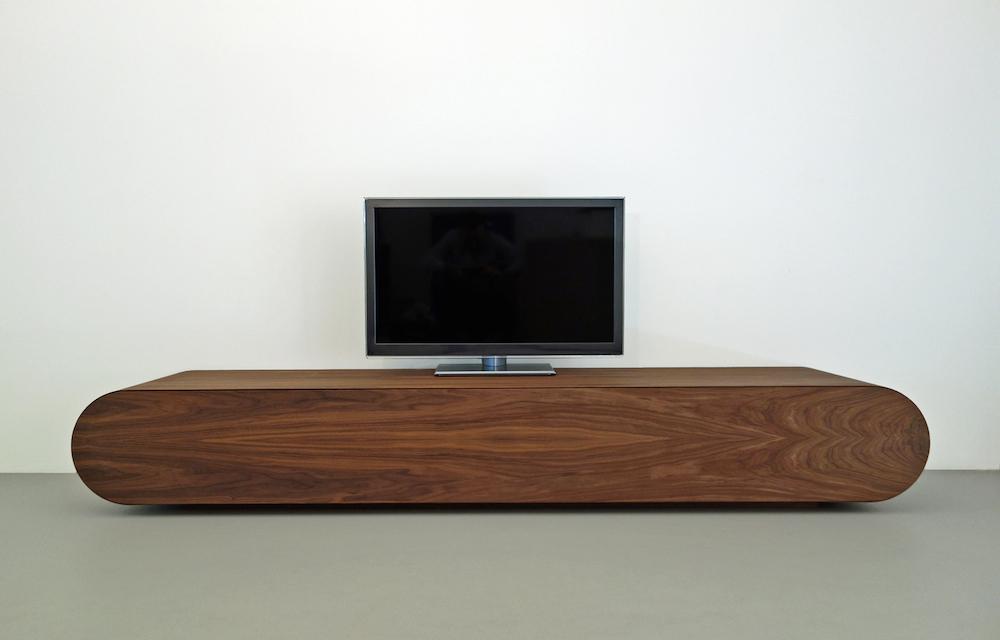 Tv Meubel Slaapkamer Lift : Modern Walnut Media Console
