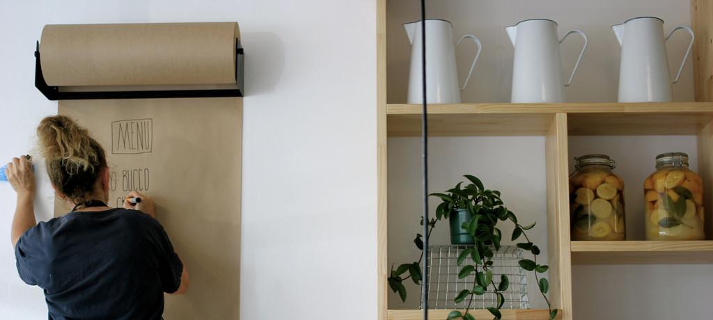 Notitiebord Keuken : Kraft Paper Roll Dispenser Wall Mount